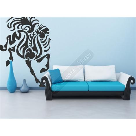 Vinilo decorativo caballo tribal 14