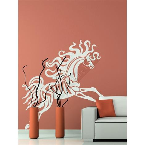 Vinilo decorativo caballo tribal 16