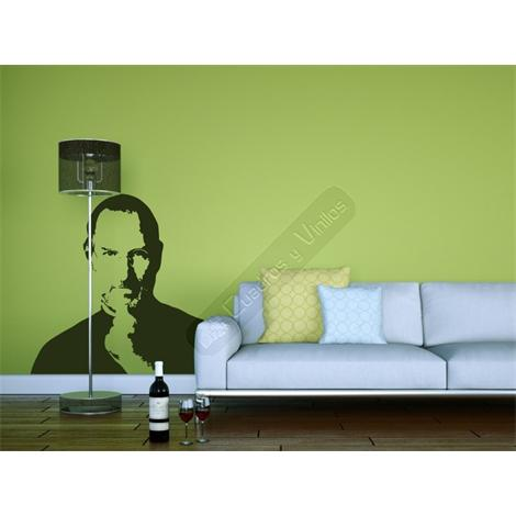 Vinilo decorativo retrato de Steve Jobs