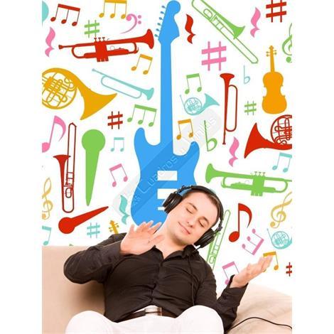 Si no puedes vivir sin la m sica este vinilo decorativo for Vinilos decorativos instrumentos musicales