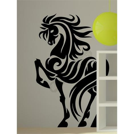 Vinilo decorativo caballo tribal 03